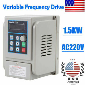 2hp 1 5kw Vfd Single 3 Phase Speed Variable Frequency Drive Inverter Industry 8a