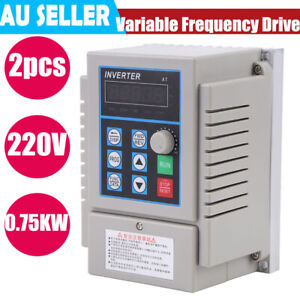 0 75kw Single To 3 three Phase Variable Frequency Drive Vfd Ac 220v At1 0750x Us