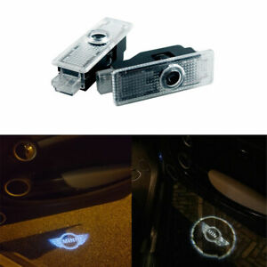 2x Led Logo Light Shadow Projector Car Door Courtesy Laser For Mini Cooper R36