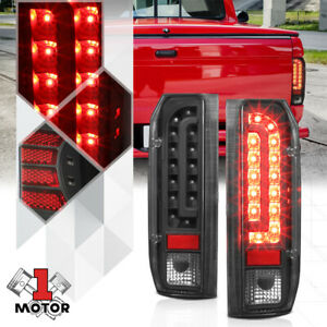 Black Clear Full Led Tail Light Brake Lamp For 90 97 Ford F150 F250 F350 Bronco