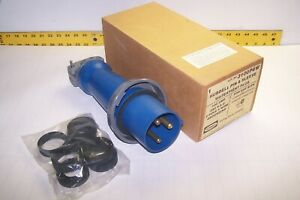 New Hubbell 3100p6w Pin And Sleeve 2 P 3 W Watertight Male Plug 100 Amp 250 Vac