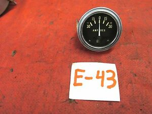 Stewart Warner Original Old Style Amp Gauge Tested