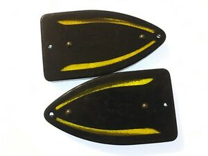 Pair Vintage Turn signal Brand Arrow Light Lens Motorcycle Car Bus Old Truck Nos