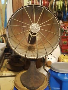 Vintage Mid Century Industrial Kwik Way Electric Heater Cast Iron Base Works