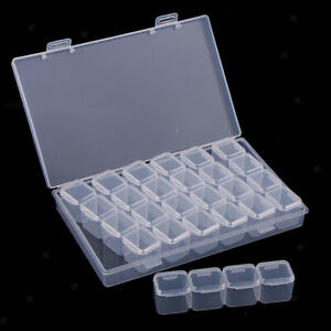 28 Grid Electronic Component Storage Box Jewelry Bead Crafts Organizer Container