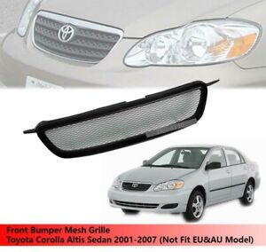 Front Bumper Mesh Grille Use For Toyota Corolla Altis Sedan 2001 2007