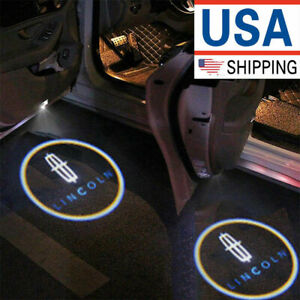 2x Ghost Shadow Wireless Projector Logo Led Door Step Light Courtesy For Lincoln