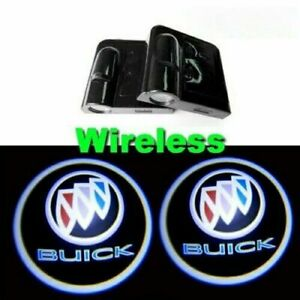 2x Ghost Shadow Wireless Projector Logo Led Door Step Light Courtesy Buick Us