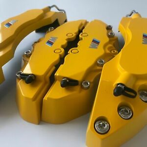 Yellow M Performance Engineering Plastic Brake Caliper Covers 11 F 9 R For Bmw 3