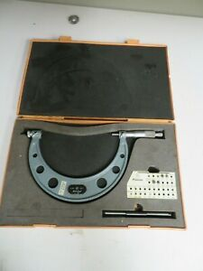 Mitutoyo Thread Micrometer Set 5 6 001 model 126 142a Nj15