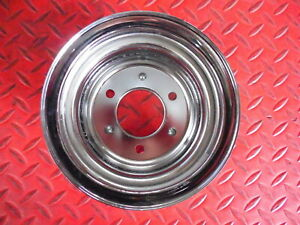 Crankshaft Pulley Chrome Small Block Ford Double 2 Groove Chromed Steel New Sbf