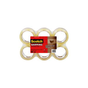 Scotch Commercial Grade Shipping Packaging Tape 3750 6 1 88 In X 54 6 Yd