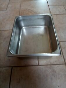 Lot Of 25 Half Sized Stainless Steel Prep Table Insert Pan 4 Deep