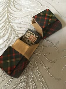 Antique Knife Form Mauchline Tartan Ware Needle Packet Holder Box Case Sewing