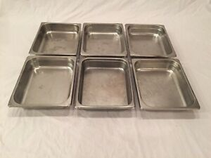 Lot 6 Half Size Stainless Steel 2 1 2 Deep Steam Table Chafing Dish Food Pan