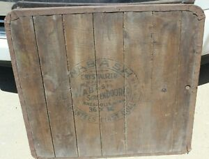 Vintage Wabash Screen Door Wood Stove Floor Board 36 X 36