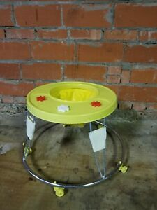 Century Moon 1970 S Baby Yellow Metal Baby Vintage Walker