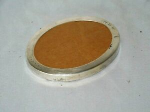 Vintage Art Deco Tiffany Co Sterling Silver Small Oval Picture Frame