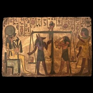 Large Ancient Egyptian Hieroglythic Plaque Late Period 664 332 Bc