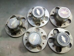 1973 87 Chevy C 10 Truck Rally Wheel Centers Set Of 4 Used Originals