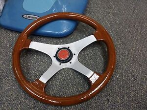 Rare Vintage 1976 Personal Manta 4 Wood Steering Wheel Toyota Mazda Bmw Benz