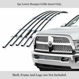 Fits 2013 2019 Ram 2500 3500 Lower Bumper Stainless Chrome Billet Grille Insert