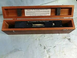 Starrett 199 Master Precision Level 15 In Original Wood Case Pristine Condition