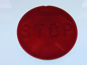 Nos Unique Early Red Glass Stop Light Lens Car Old Truck Auto Motorcycle 4 1 8