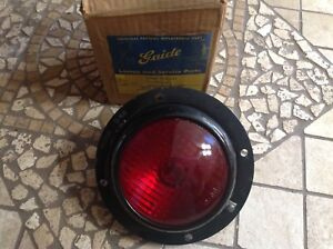Nib Signal Lamp Guide D 68 Flange Mount Vintage Truck Bus Lamp Red Glass Lens