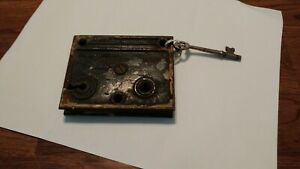 Vintage Antique Cabinet Door Closet Drawers Latch Lock With Key