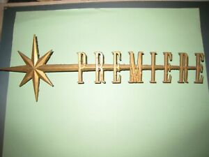 1957 Lincoln Premiere Fender Nameplate Script With Star By 7325622a Used