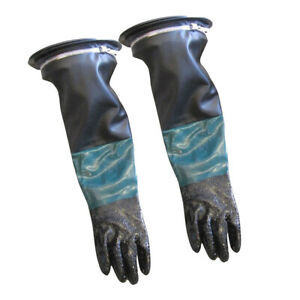 Heavy Duty 24 Long Sand Blast Cabinet Gloves W glove Holders And Clamps