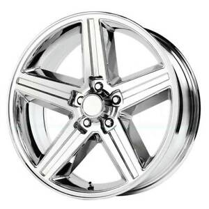One 20x8 Replica V1129 Iroc 5x120 65 0 Chrome Wheels Rims