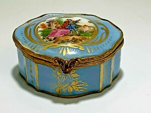 Antique Sevres French 1750 S Mark The Serenade Porcelain Box