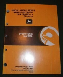 John Deere 540g ii 548g ii 640g ii 648gii Skidder Operation Maintenance Manual