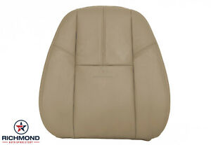 2010 2011 Chevy Avalanche Lt Ls Ltz driver Side Lean Back Leather Seat Cover Tan