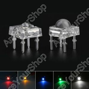 Led 3mm 5mm 4pin Piranha Super Flux Dome Wide Angle Super Bright Leds 5clours Ue