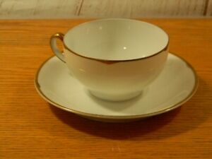 Vintage Wittelsbach Germany Bavaria White Gold Cup And Saucer