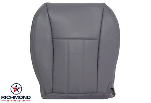 1997 1998 Jeep Cherokee Driver Side Bottom Replacement Leather Seat Cover Gray
