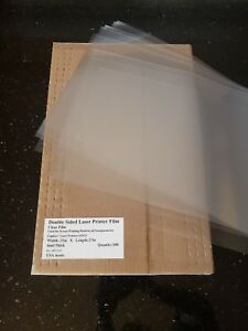 Clear Laser Transparency Paper 11x17 Film Paper Qty 100