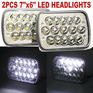 6x7 Led Headlight Square Bulb High Low Sealed Beam For Chevy S10 Sonoma Truck