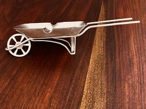 Gerli Mexican Sterling Silver Ashtray In The Form Of A Wheelbarrow No Monogram