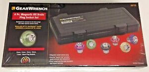 Gearwrench 3871 6 Piece Magnetic Drain Plug Socket Set