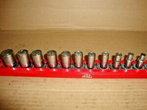 Mac Tools Mg 1 4 Drive 12 Piece Metric Shallow Socket Set 5 15mm Nice