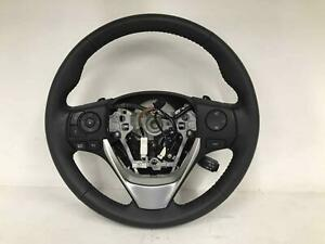 2015 Toyota Corolla Steering Wheel Black Leather Automatic 190308 R419