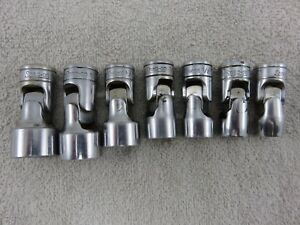 Snap On Universal Swivel Socket Set 3 8 Dr 7pc 12pt 3 8 3 4 Made In Usa