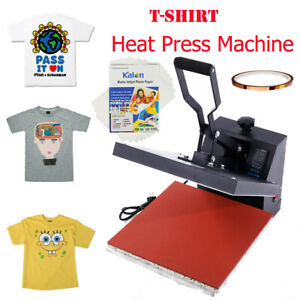 15 x15 Heat Press Machine T shirts Sublimation W Fixed Glue A4 Transfer Paper