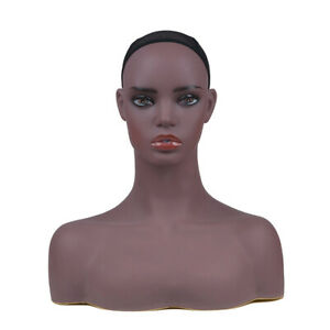 New Realistic Women Mannequin Head Display Wig Hat Glasses Necklace Model Dd7645