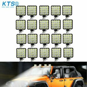 20x 48w 12v Led Work Light Flood Light Offroad Driving Suv Boat Tractor spot