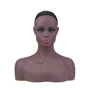 New Realistic Women Mannequin Head Display Wig Hat Glasses Necklace Model Dc7645
